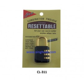 20mm - 3 DIGIT RESETABLE PADLOCK * Images are for illustrative purposes only*