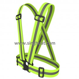 Green Colour Reflective Safety Strap * Images are for illustrative purposes only *