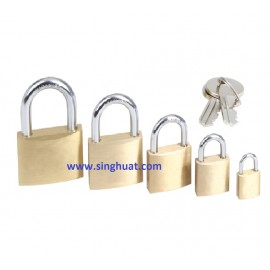SHORT SHACKLE BRASS PADLOCK ( MASTER KEY ) * Images are for illustrative purposes only*