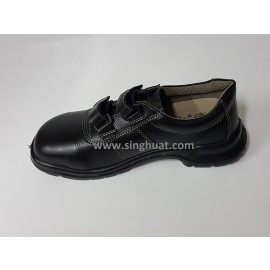 KWS 841 Full Grain Leather Hook & Loop Fasteners Shoe ( PSB Approved ) * Images are for illustrative purposes only *