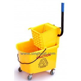 Mop Bucket With Wringer And Wheels * Images are for illustrative purposes only *