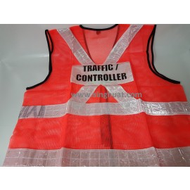 Red Colour Reflective Safety Vest * Images are for illustrative purposes only *