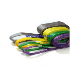POLYESTER FLAT WEBBING LIFTING SLINGS (BELT SLING WITH REINFORCED EYES) * Images are for illustrative purposes only*