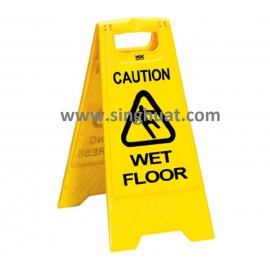 Plastic Sign Board With Wording * Images are for illustrative purposes only *